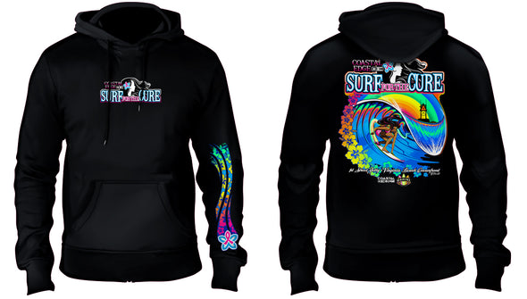 Coastal Edge 2019 Surf for the Cure Hooded Fleece Black