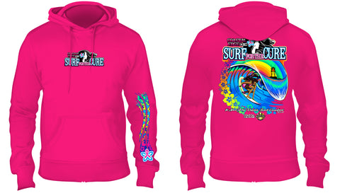 Coastal Edge 2019 Surf for the Cure Hooded Fleece Pink