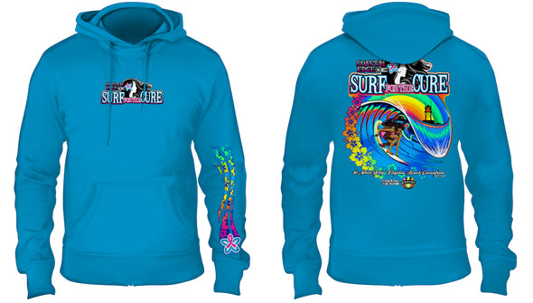 Coastal Edge 2019 Surf for the Cure Hooded Fleece Sapphire