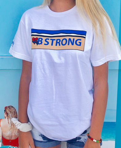 Coastal Edge VB Strong Short Sleeve T-Shirt White