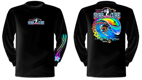 Coastal Edge 2019 Surf for the Cure LS T-Shirt Black