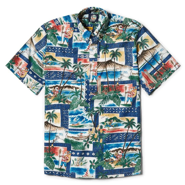 Reyn Spooner Hawaiian Christmas 2018 Classic Fit - Royal