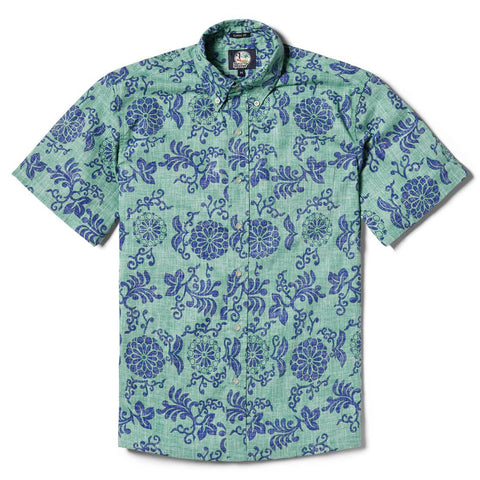 Reyn Spooner Royal Chrysanthemums Classic Fit - Mint