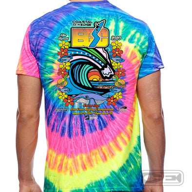 Coastal Edge East Coast Surfing Championship 2020 S/S T-Shirt Neon Rainbow