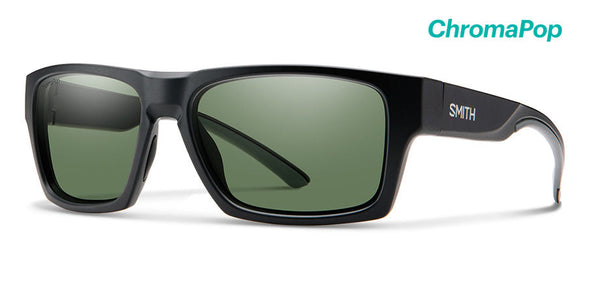 Smith Outlier 2 ChromaPop Sunglass Matte Black/ Polarized Gray Green