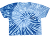 Coastal Edge Salty Vibes Nautical Swirl Tie Dye Cropped Tee
