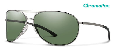 Smith Serpico 2.0 ChromaPop Sunglass Gunmetal/ Polarized Gray Green