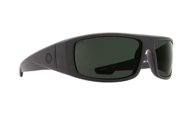Spy Logan Matte Black ANSI RX / HD Plus Gray Green