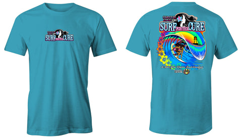Coastal Edge 2019 Surf for the Cure SS T-Shirt Lagoon