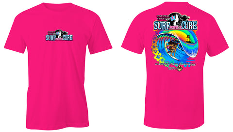 Coastal Edge Surf for the Cure 2018 SS T-shirt Pink