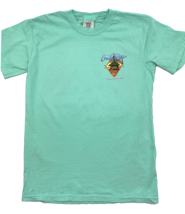 Coastal Edge Sunset Hut Short Sleeve T-Shirt - Island Reef