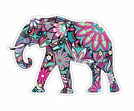 Elephant Pink Small Sticker