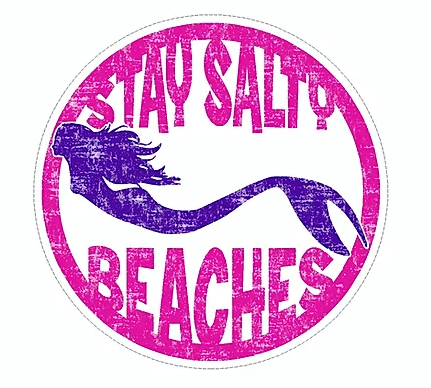 Stay Salty Mermaid Large Sticker