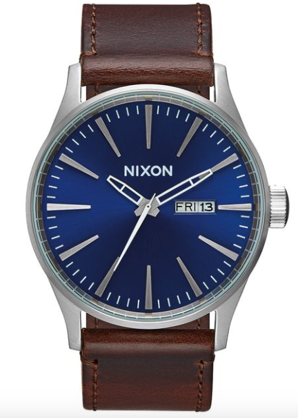 Nixon Sentry Leather Blue/Brown