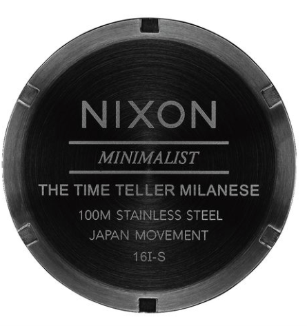 Nixon Time Teller Milanese All Black