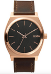 Nixon Time Teller Rose Gold/ Gunmetal/ Brown