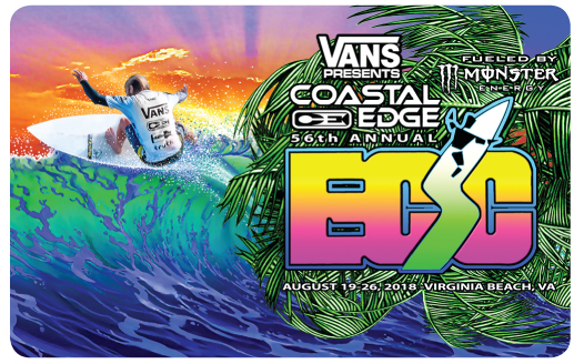 Coastal Edge East Coast Surfing Championship Gift Card