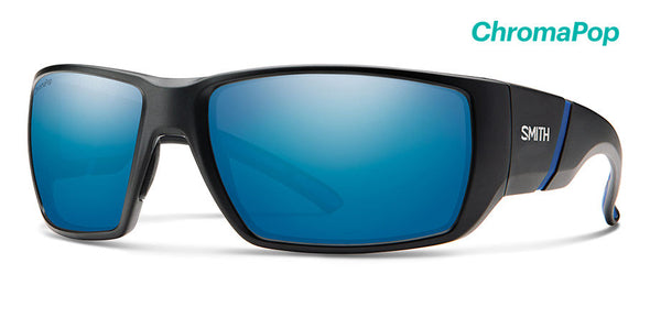 Smith Transfer XL ChromaPop Sunglass Matte Black / Polarized Blue Mirror