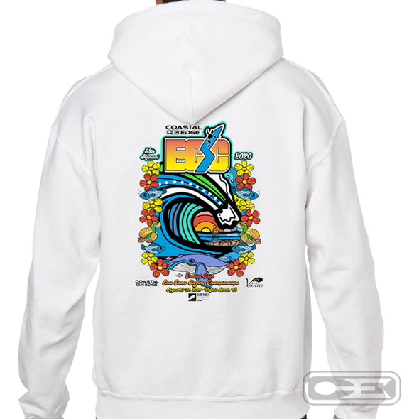 Coastal Edge East Coast Surfing Championship 2020 Fleece Hoodie White