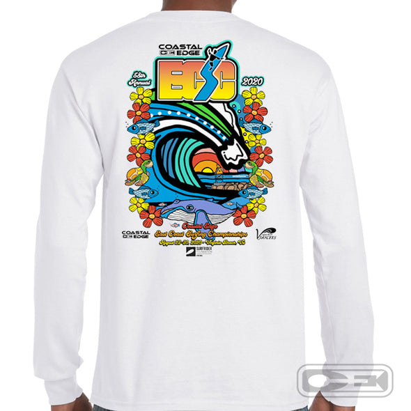 Coastal Edge East Coast Surfing Championship 2020 L/S T-Shirt White