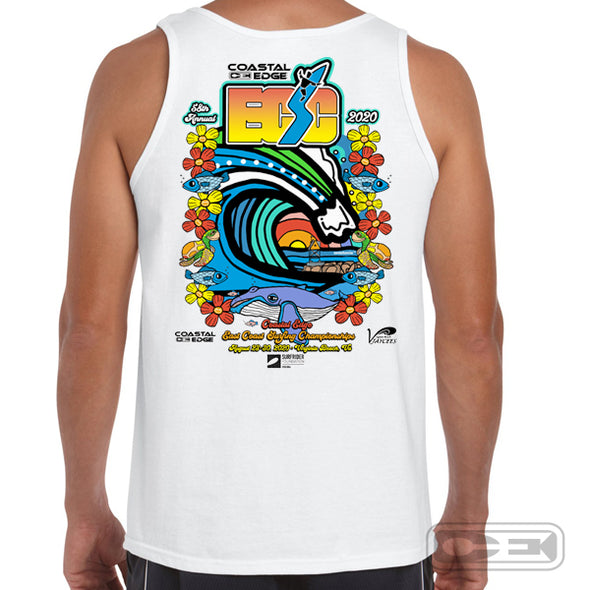 Coastal Edge East Coast Surfing Championship 2020 Tank Top White
