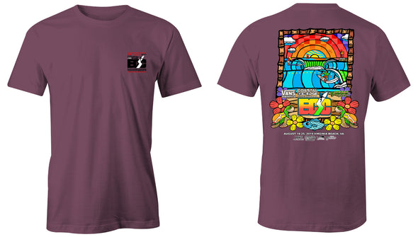 Coastal Edge East Coast Surfing Championship 2019 S/S T-Shirt Berry
