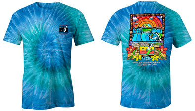 Vans presents the Coastal Edge East Coast Surfing Championship 57th Annual 2019 S/S T-Shirt Blue Jerry