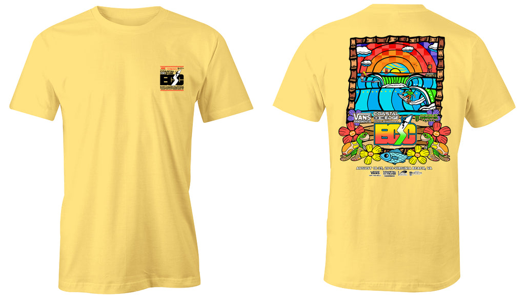 Vans presents the Coastal Edge East Coast Surfing Championship 57th Annual 2019 S/S T-Shirt Butter