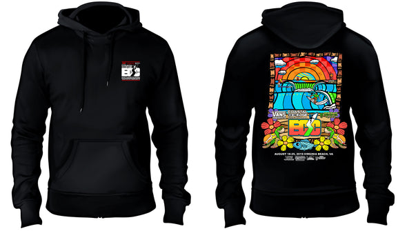 Coastal Edge East Coast Surfing Championship 2019 Fleece Hoodie Black