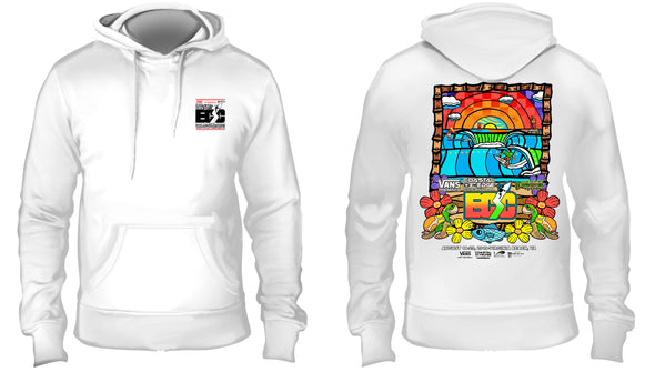Vans presents the Coastal Edge East Coast Surfing Championship 57th Annual 2019 Fleece Hoodie White