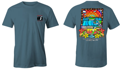 Vans presents the Coastal Edge East Coast Surfing Championship 57th Annual 2019 S/S T-Shirt Ice Blue