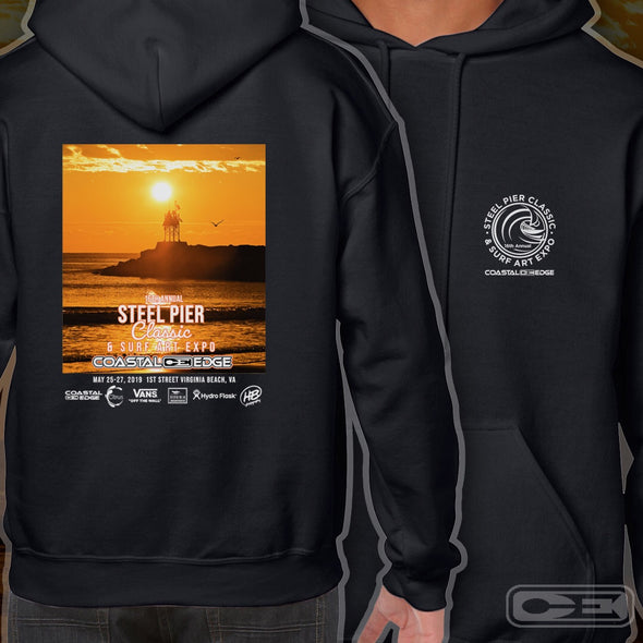 Coastal Edge Steel Pier Classic 2019 Long Sleeve T-shirt Black