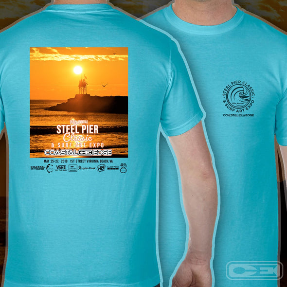 Coastal Edge Steel Pier Classic Short Sleeve T-shirt Lagoon
