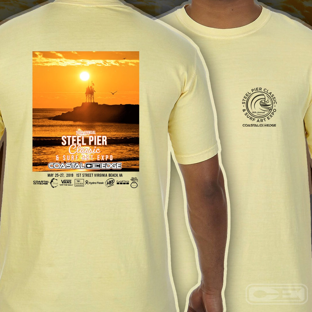 Coastal Edge Steel Pier Classic 2019 Short Sleeve T-shirt Butter