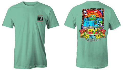 Vans presents the Coastal Edge East Coast Surfing Championship 57th Annual 2019 S/S T-Shirt Sea Foam
