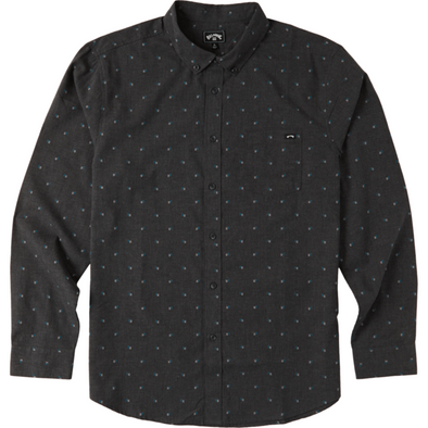 ALL DAY JACQUARD LONG SLEEVE WOVEN