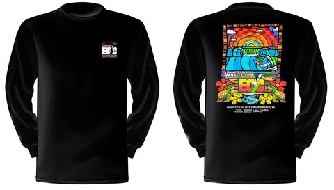 Vans presents the Coastal Edge East Coast Surfing Championship 57th Annual 2019 L/S T-Shirt Black