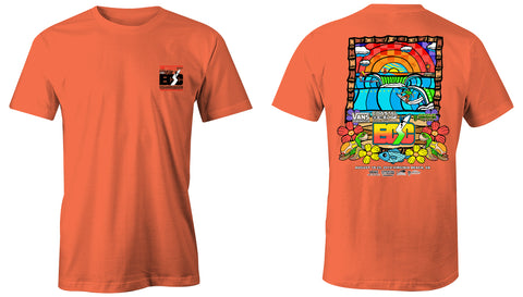 Vans presents the Coastal Edge East Coast Surfing Championship 57th Annual 2019 S/S T-Shirt Melon
