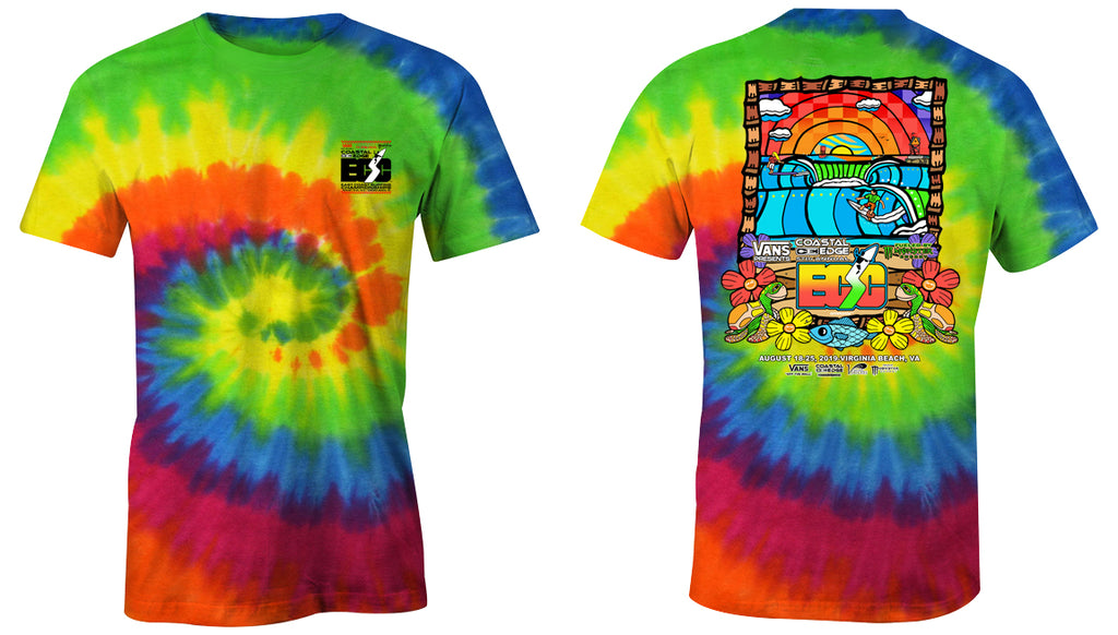 Vans presents the Coastal Edge East Coast Surfing Championship 57th Annual 2019 S/S T-Shirt Moondance
