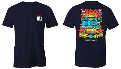 Vans presents the Coastal Edge East Coast Surfing Championship 57th Annual 2019 S/S T-Shirt Navy