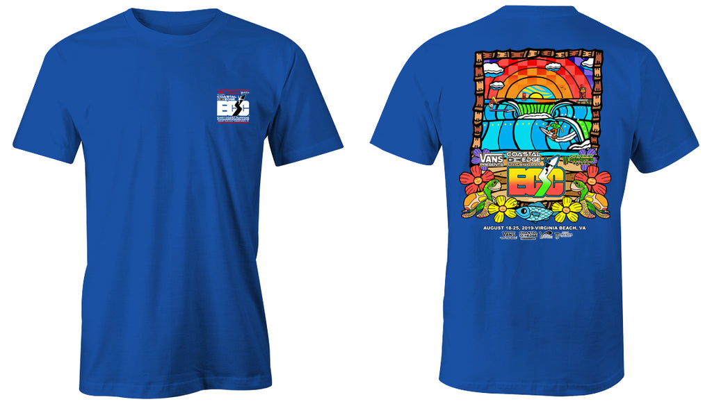 Vans presents the Coastal Edge East Coast Surfing Championship 57th Annual 2019 S/S T-Shirt Royal