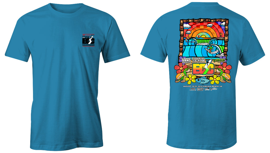 Vans presents the Coastal Edge East Coast Surfing Championship 57th Annual 2019 S/S T-Shirt Sapphire