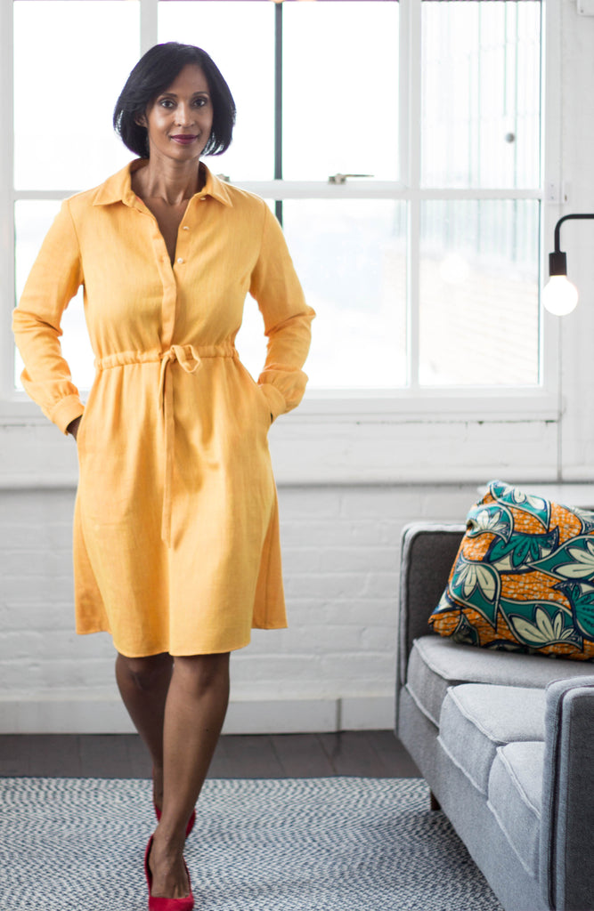 Volta Shirt Dress in Cayenne Pineapple