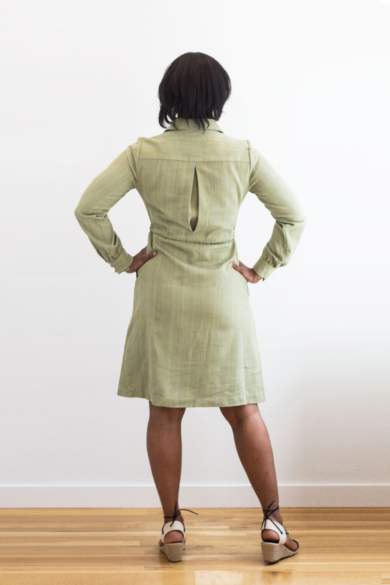Volta Shirt Dress in Shea Green