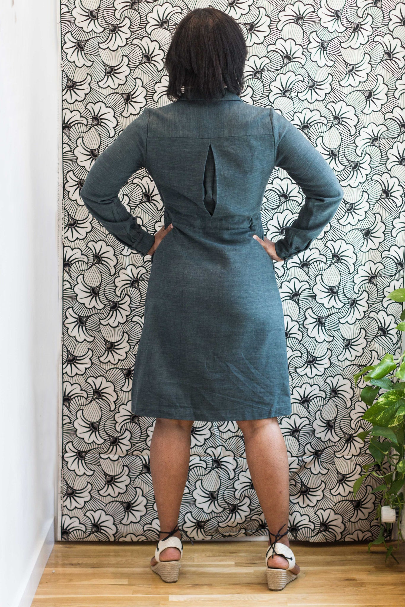 Volta Shirt Dress in Artisan Black