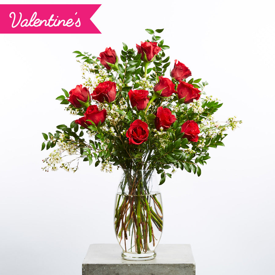 Feb 11-14, Venice Collection - 1 Doz Roses (various color options)