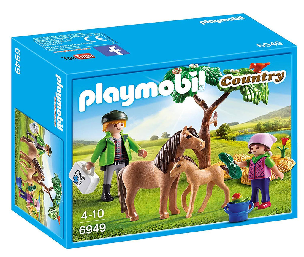 PLAYMOBIL® 6949 Country Vet with Pony and Foal