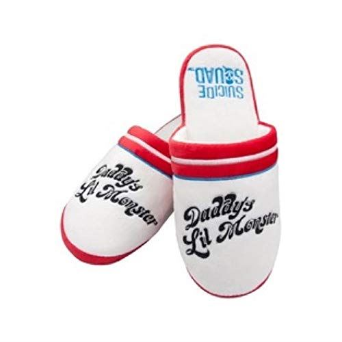 Suicide Squad Official Daddy s Lil Monster Slippers, UK 5 7, White