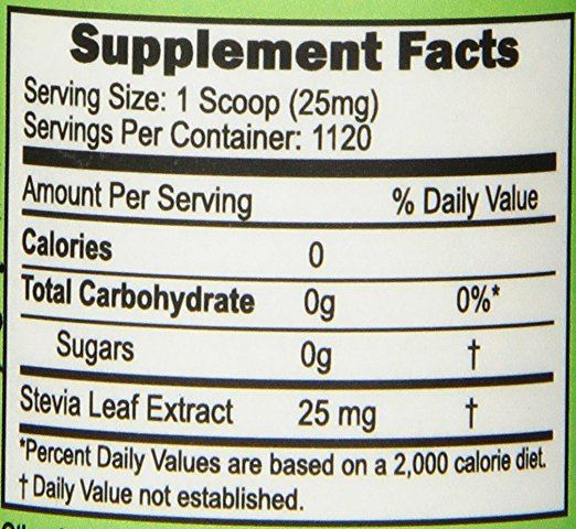 Superior Source 100% Pure Stevia Extract (28g (1oz) - 1,120 servings (scoop enclosed))