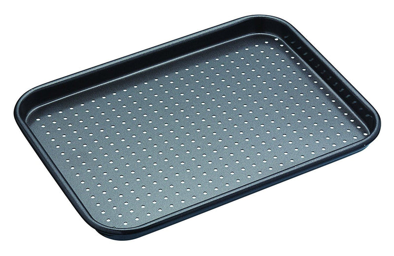 KitchenCraft MasterClass Crusty Bake Baking Tray, Grey, 24 x 18 cm